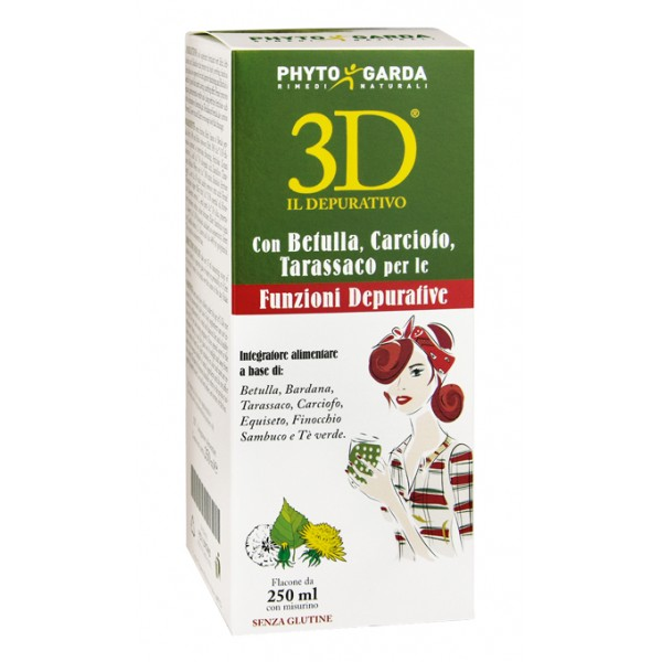 3D Gold Drena Depura 250 ml - Integratore Alimentare
