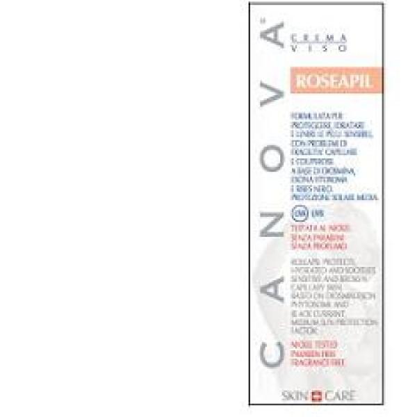 Canova Roseapil Crema Couperose Viso per Pelli Sensibili 50 ml