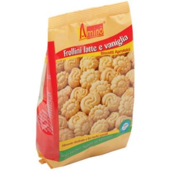 Amino' Frollini Latte e Vaniglia Biscotti Aproteici 200 grammi