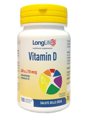 Longlife Vitamina D 400 U.I. 100 Compresse - Integratore Ossa