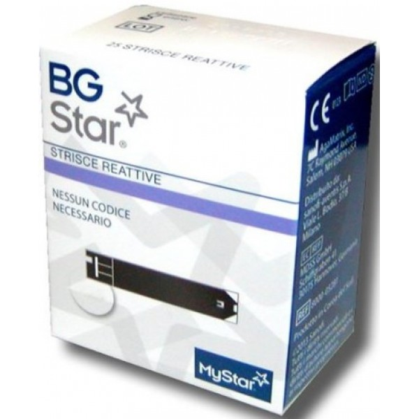 BgStar MyStar Extra Strisce Reattive per la Glicemia 25pz