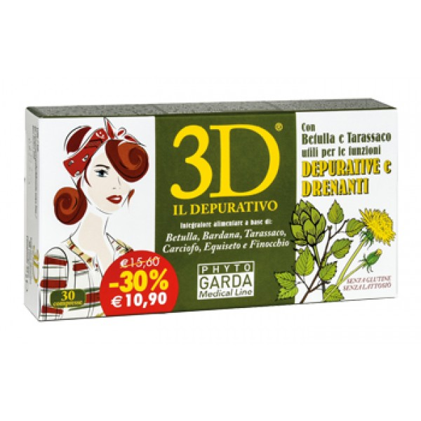 3D Drenante 30 Compresse - Integratore Depurativo