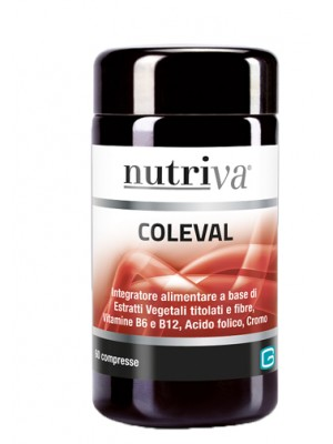 Nutriva Coleval 60 Compresse - Integratore Controllo Colesterolo e Trigliceridi
