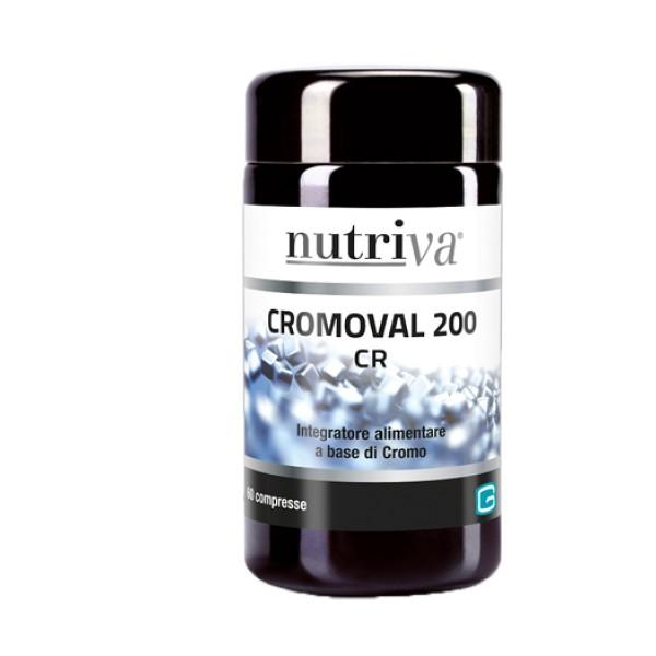 Nutriva Cromoval 200  60 Compresse - Integratore Metabolismo dei Lipidi