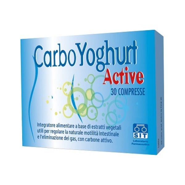 CarboYogurt Active Integratore contro Gas Intestinale 30 Compresse
