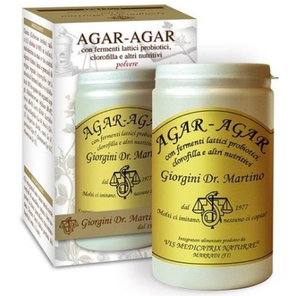 Agar Agar Polvere 150 grammi Dr. Giorgini - Integratore Fermenti Lattici e Clorofilla