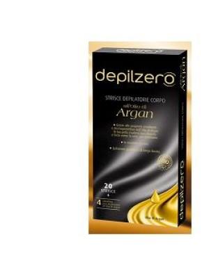 Depilzero Argan Strisce Depilatorie Corpo all'Olio di Argan 20 pezzi