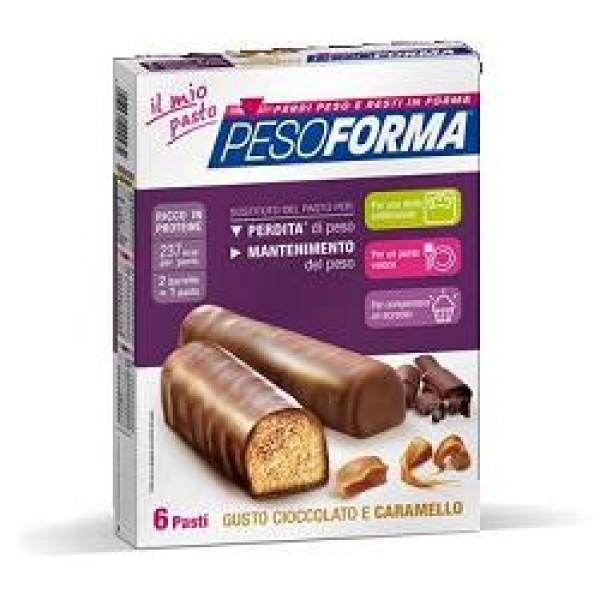 Pesoforma gusto Cioccolato e Caramello 12 Barrette