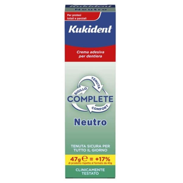 Kukident Complete Crema Adesiva per Dentiere Gusto Neutro 47 grammi