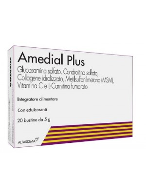 Amedial Plus Integratore Ossa Cartilagini Collagene 20 Buste