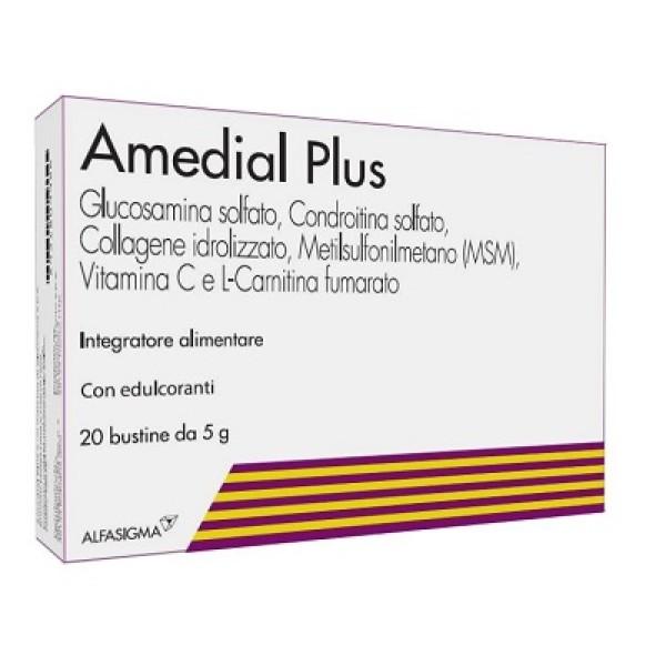 Amedial Plus Integratore Ossa Cartilagini Collagene 20 Buste