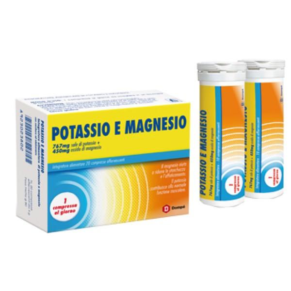 Dompe Magnesio e Potassio 20 Compresse Effarvescenti