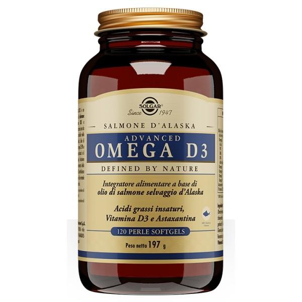 Solgar Advanced Omega D3 120 Perle - Integratore Colesterolo