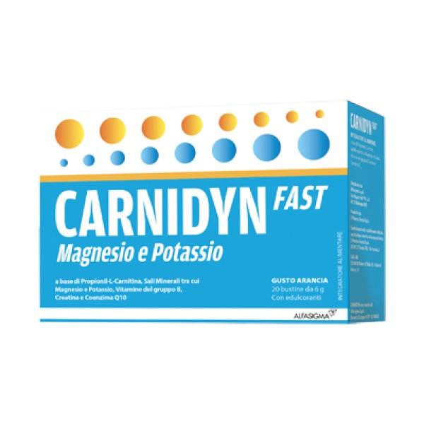 Carnidyn Fast 20 Bustine - Integratore Magnesio e Potassio