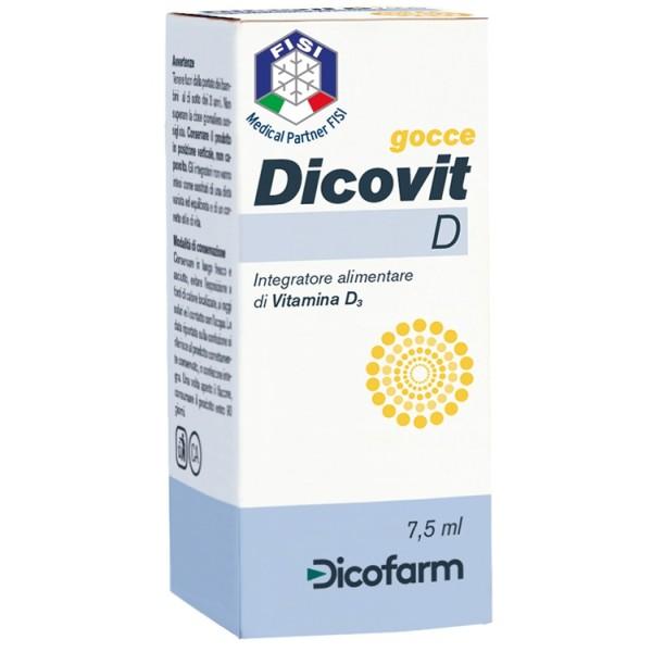 Dicovit D Gocce 7,5 ml - Integratore Vitamina D Bambini