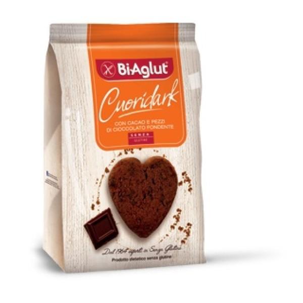 Biaglut Biscotti Senza Glutine Cuori Dark 200 grammi