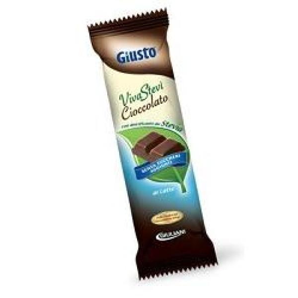 Giusto Senza Zuccheri Aggiunti VivaStevi' Latte Barretta con Stevia 35 grammi