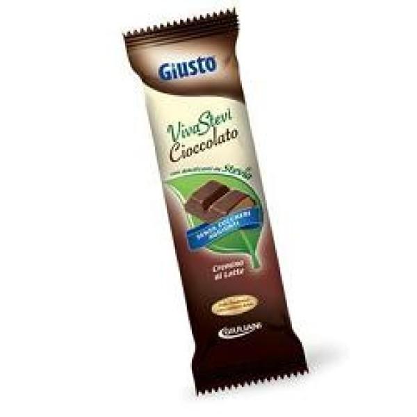 Giusto Senza Zuccheri Aggiunti VivaStevi' Cremino al Latte Barretta con Stevia 35 grammi