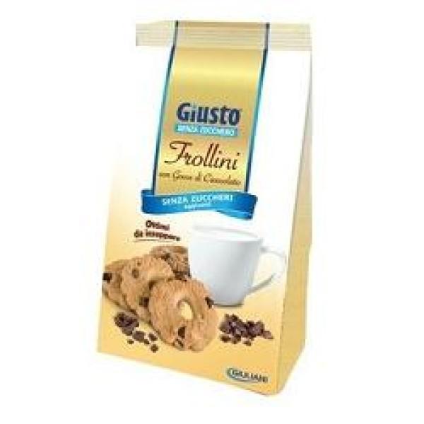 Giusto Senza Zuccheri Aggiunti Frollini con Gocce di  Cioccolato 350 grammi