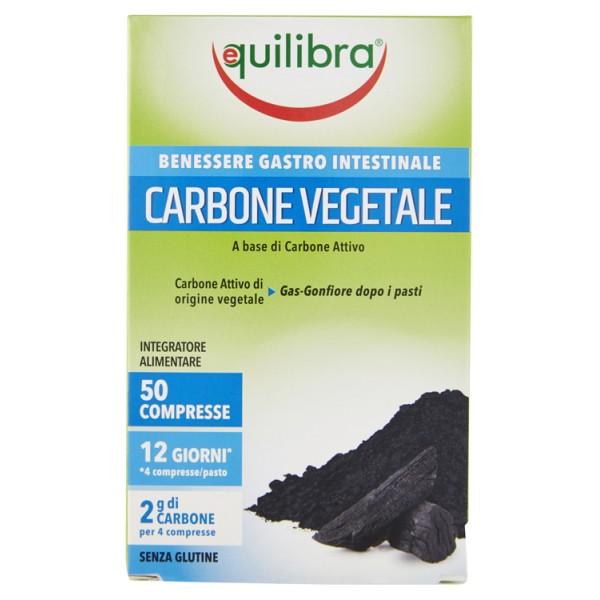 Equilibra Carbone Vegetale 50 Compresse - Integratore Pancia Piatta