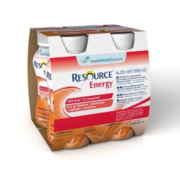 Resource Energy Albicocca Bevanda Ipercalorica Iperproteica 4 x 200 ml