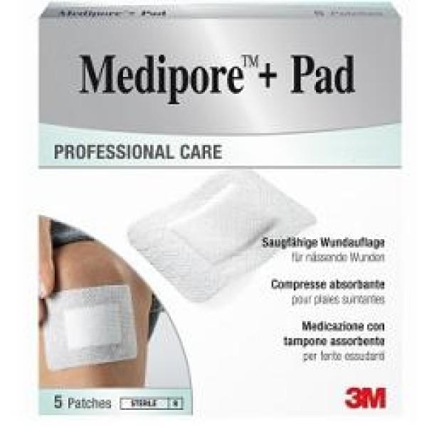 3M Medipore + Pad Medicazione Sterile 10 x 10 cm 5 pezzi