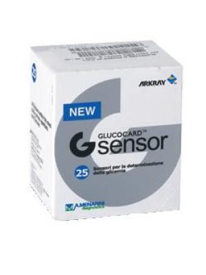 Glucocard G Sensor Strisce Reattive Glicemia 25 Pezzi