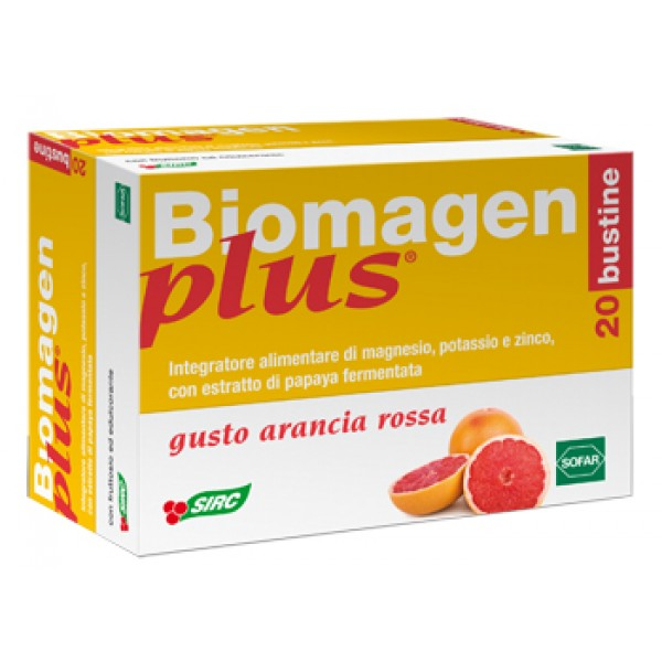 Biomagen Plus Integratore Energetico Gusto Arancia Rossa 20 Buste