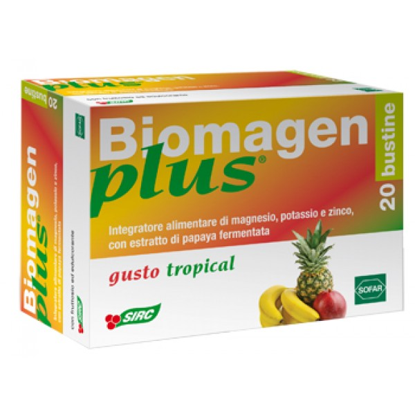 Biomagen Plus Tropical Integratore Energetico 20 Buste
