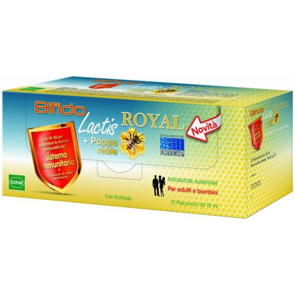 Bifido Lactis Royal + Pappa Reale Integratore Intestinale 12 Flaconcini