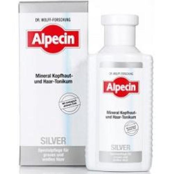 Alpecin Silver Tonico Minerale Contro Capelli Grigi 200 ml