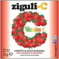 Ziguli' C Fragola 40 Confetti - Integratore Vitamina C