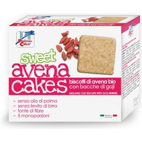 La Finestra sul Cielo Sweet Avena Cakes Biscotti di Avena Bio con Bacche di Goji 250 grammi