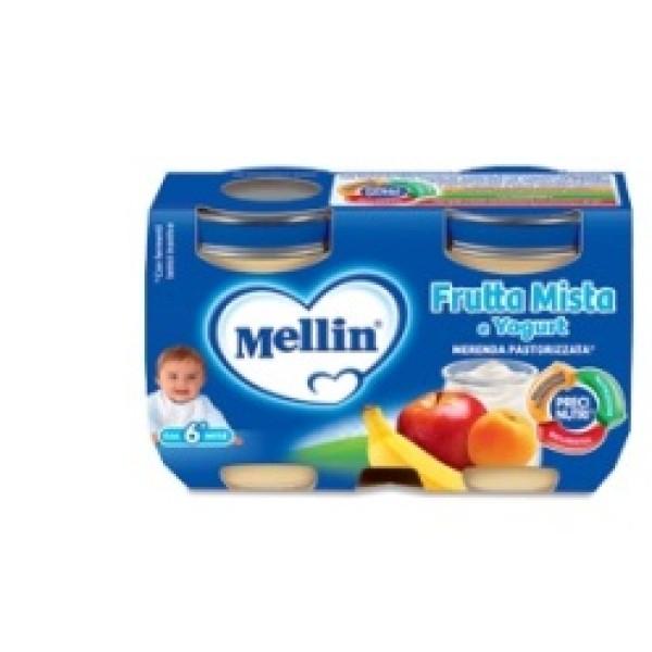 Mellin Merenda Yogurt Frutta Mista 2 x 120 grammi