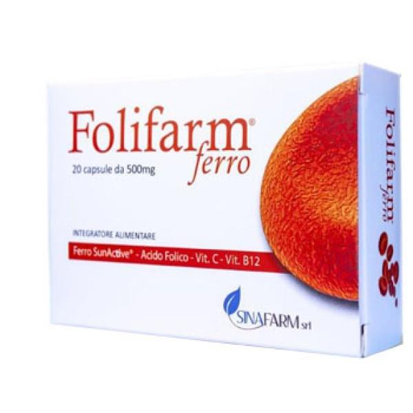 FOLIFARM Ferro 20 Cps 500mg