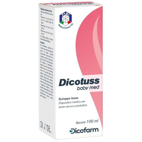 Dicotuss Baby Med Sciroppo 100 ml - Integratore Tosse Secca e Produttiva