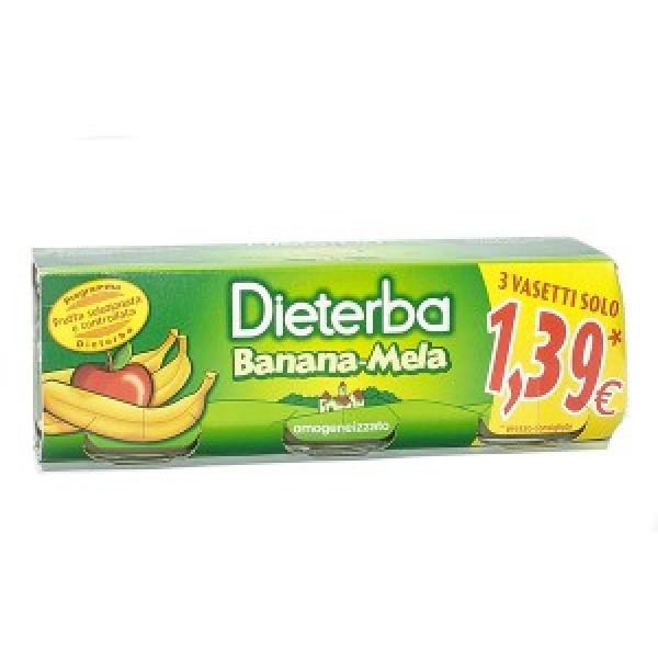 Dieterba Omogeneizzato Banana-Mela 3 x 80 grammi