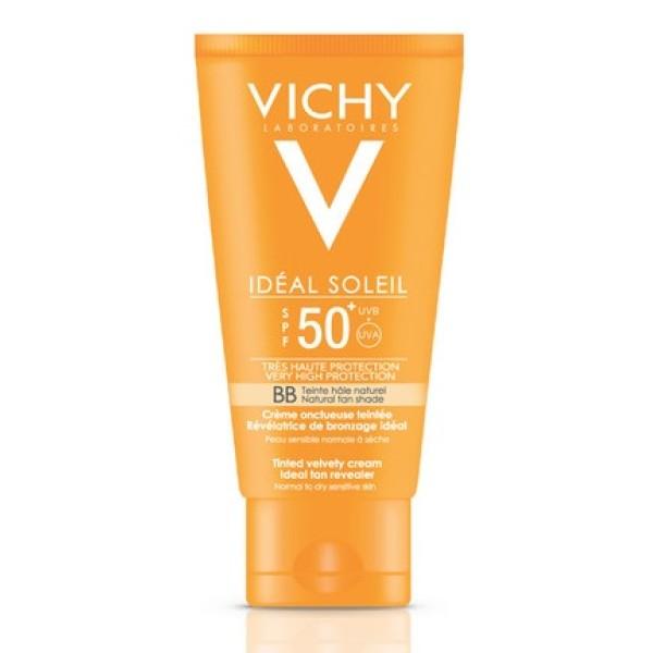 Vichy Ideal Soleil Solare Crema Viso BB Tocco Secco SPF 50+ 50 ml