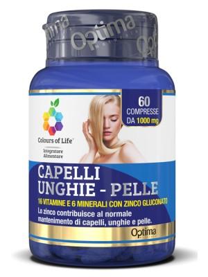 Optima Colours of Life Capelli Unghie Pelle 60 Compresse - Integratore Vitamine e Minerali