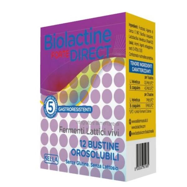 Biolactine Forte Direct 12 Bustine - Integratore Fermenti Lattici