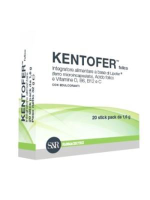 Kentofer Folico 20 Bustine - Integratore Acido Folico Ferro e Vitamine