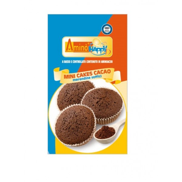 Amino' Happy D Mini Cakes Cacao Merendine Soffici 160 grammi