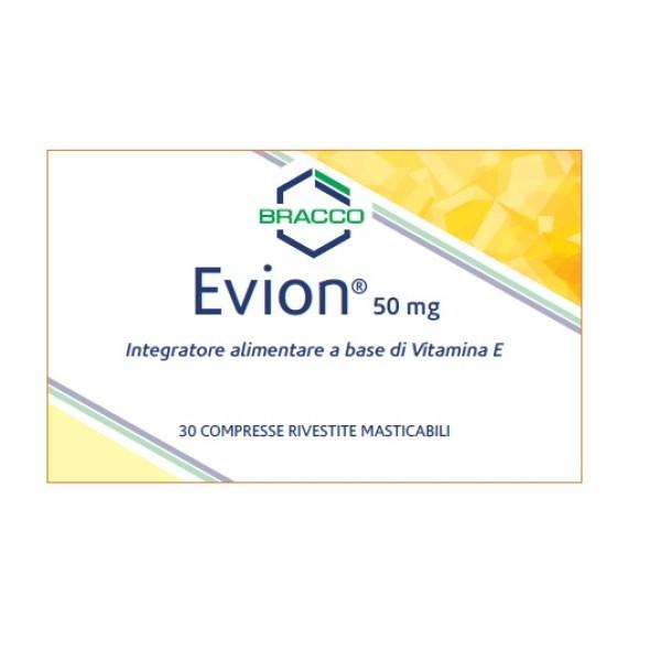 Evion Compresse 50 mg Integratore Vitamina E 30 Compresse Masticabili