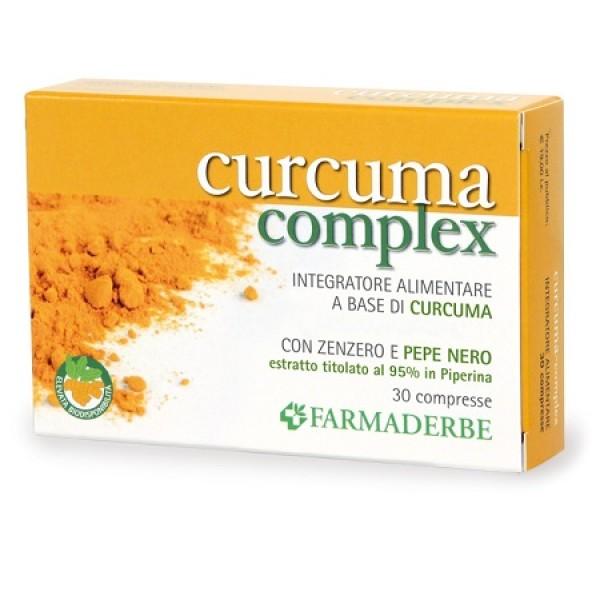 Farmaderbe Curcuma Complex 30 Compresse - Integratore Alimentare