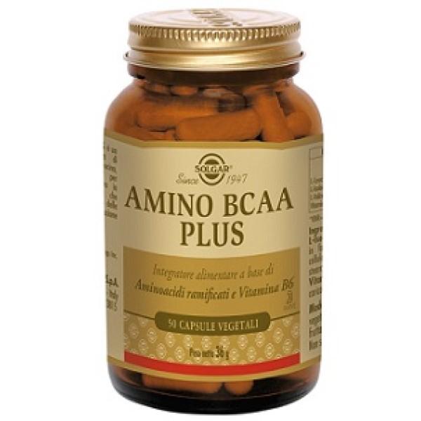 Solgar Amino BCAA Plus 50 Capsule Vegetali - Integratore Aminoacidi Ramificati