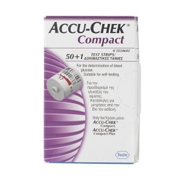 Accu-Chek Compact Strisce Reattive Glicemia 51 Pezzi