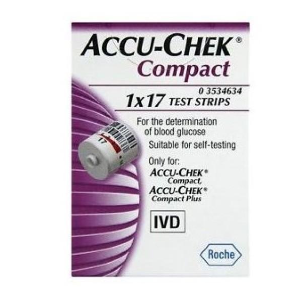 Accu-Chek Compact Strisce Reattive Glicemia 17 Pezzi