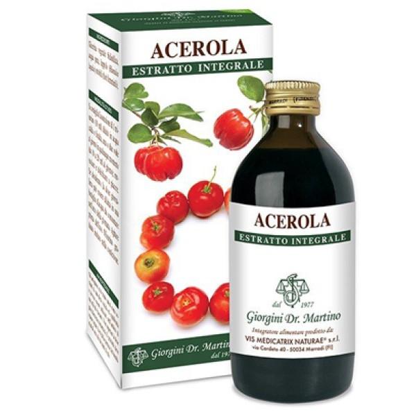 Acerola Estratto Integrale 200 ml Dr. Giorgini - Integratore Antiossidante