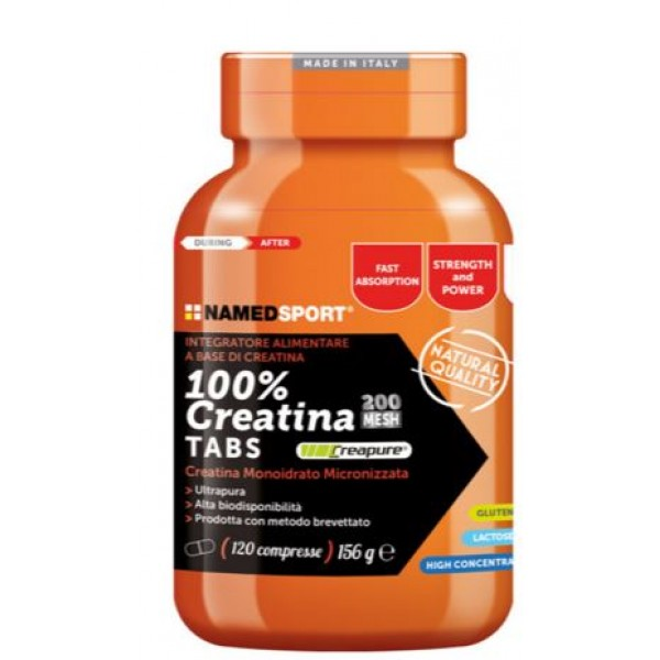 Named Sport 100% Creatina 120 Capsule - Integratore Alimentare