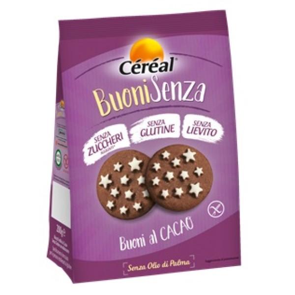Cereal Biscotti al Cacao Senza Glutine 200 grammi